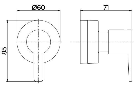 "Acabamento para Registro Docol Gali 00806706 Base Deca 1/2"", 3/4"" e 1"" Cromado  - Casa Mattos"