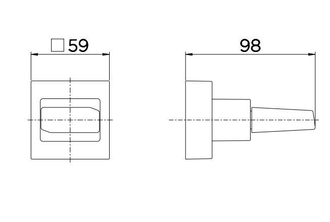 """Acabamento para Registro Docol Next 00651806 Docolbase 1/2"""", 3/4"""" e 1"""" Cromado  - Casa Mattos"""