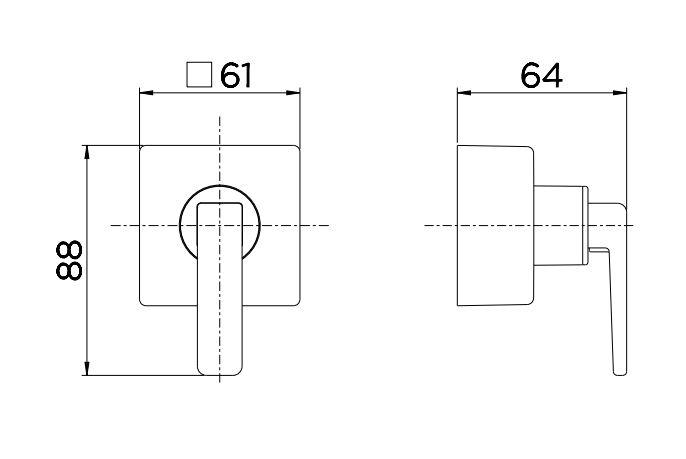 """Acabamento para Registro Docol Stillo 00824169 Base Deca 1/2"""", 3/4"""" e 1"""" Cobre Escovado  - Casa Mattos"""
