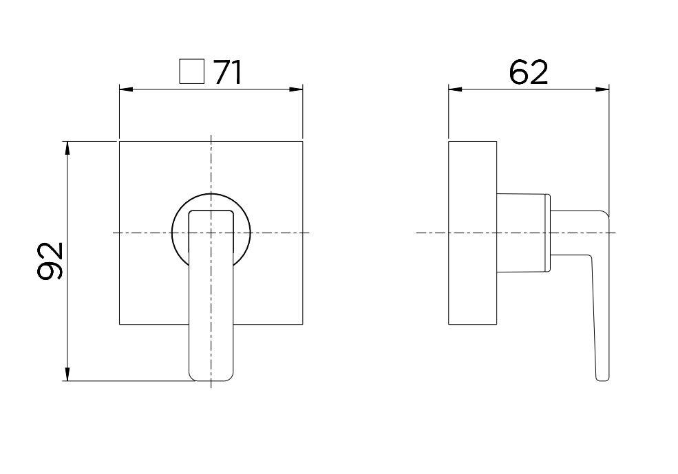 """Acabamento para Registro Docol Stillo Base 1.1/4"""" e 1.1/2"""" 820570 Grafite Escovado  - Casa Mattos"""