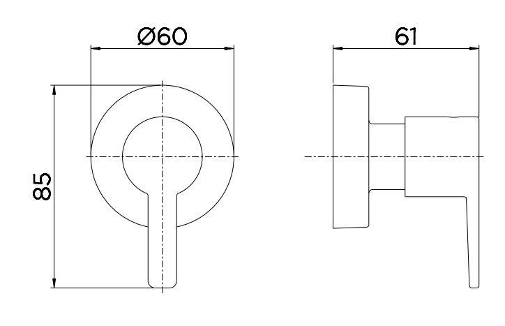 """Acabamento para Registro DocolBase 1/2"""", 3/4"""" e 1"""" Gali  - Casa Mattos"""