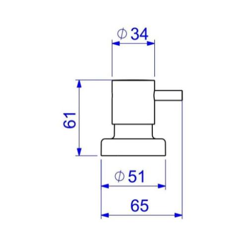 """Acabamento para Registro Deca Gaveta Link 1"""" pressão 1/2"""" e 3/4"""" 4900.C.PQ.LNK Cromado  - Casa Mattos"""