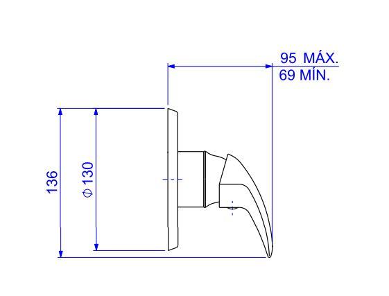 Acabamento Smart  Deca Monocomando de Chuveiro Para Alta e Baixa Pressão 4993.C71.CHU Cromado  - Casa Mattos