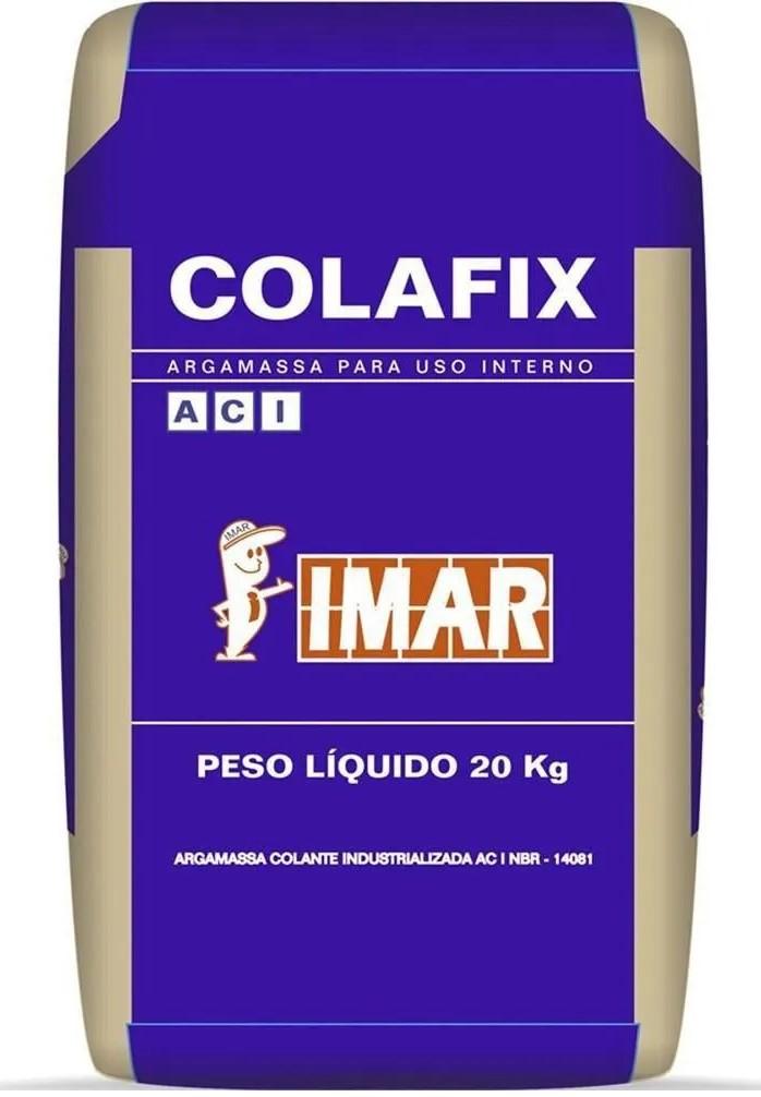 Argamassa Colante Interno Cinza 20kg - IMAR  - Casa Mattos