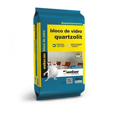 Argamassa Quartzolit Bloco de Vidro 20kg  - Casa Mattos
