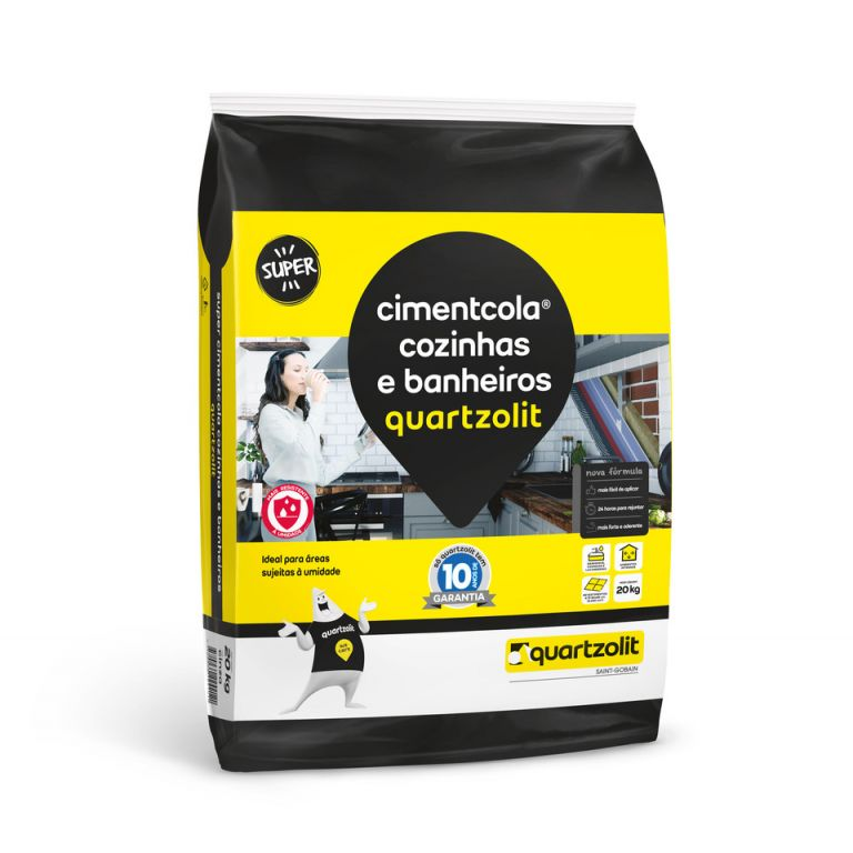 Argamassa Quartzolit Cimentcola Cozinhas e Banheiros ACI 20kg