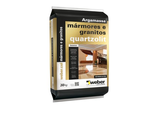 Argamassa Quartzolit para Mármores e Granitos Internos 20kg