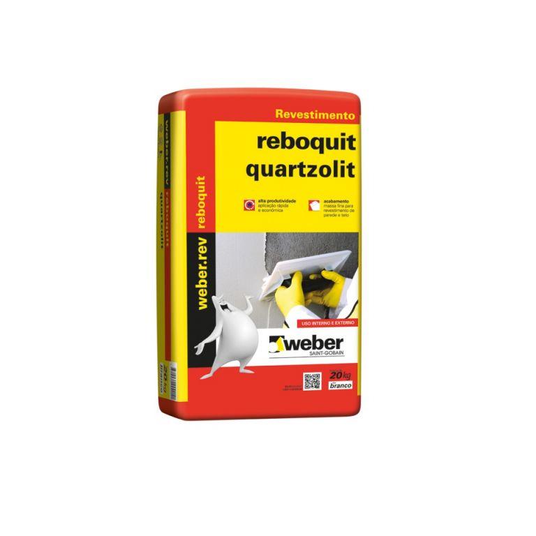 Argamassa Reboquit Massa Fina Interna 20Kg - Quartzolit