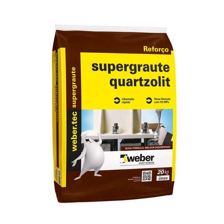 Argamassa Super Graute Para Concreto 25kg - Quartzolit