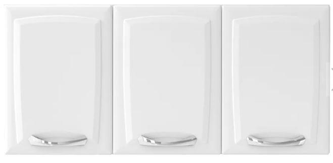 Armário Aéreo Itatiaia Premium 3 Portas para Cozinha Branco  - Casa Mattos