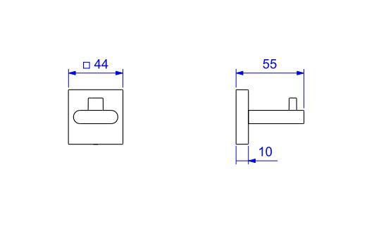 Cabide Deca Polo 2060.C33 Cromado  - Casa Mattos