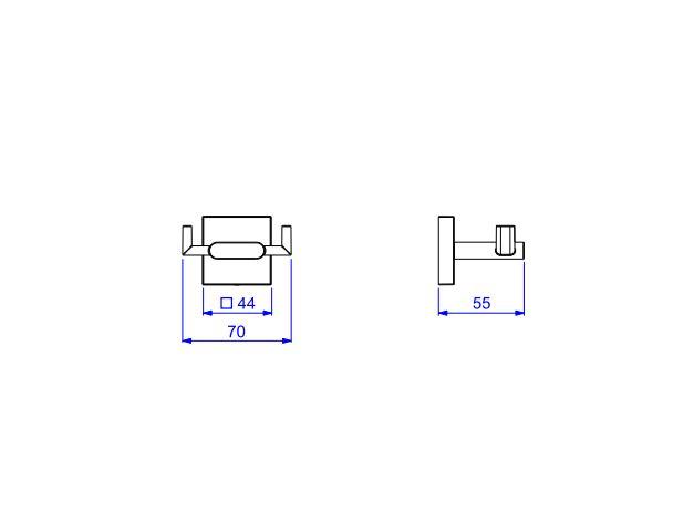 Cabide Duplo Deca Polo 2062.GL33.RD Red Gold  - Casa Mattos