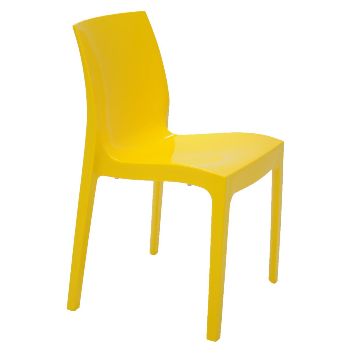 Cadeira Tramontina Alice Amarelo 92037/000 1 Peça