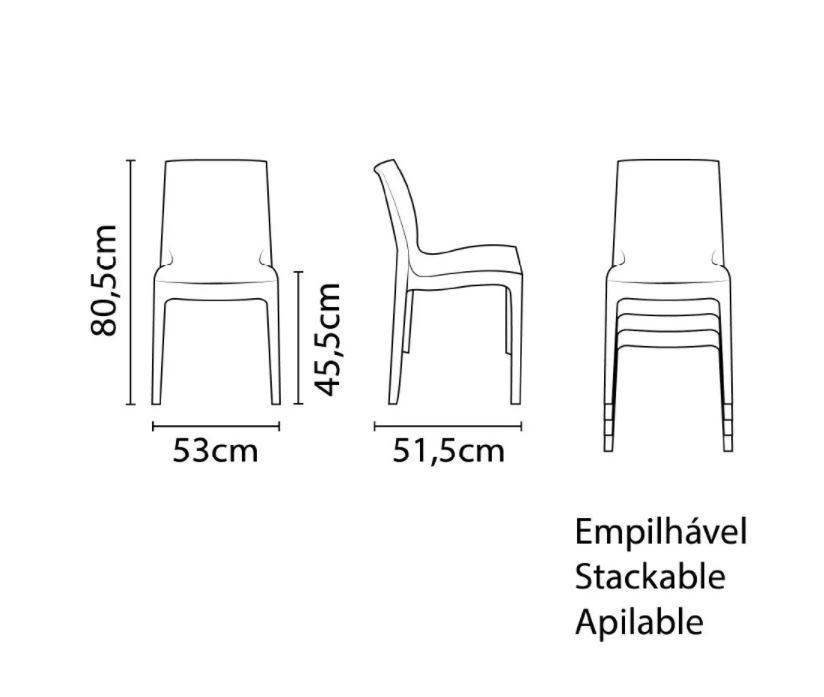 Cadeira Tramontina Alice Amarelo 92037/000 1 Peça  - Casa Mattos