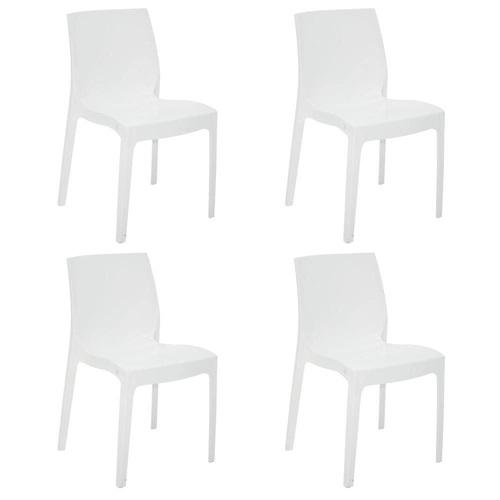 Cadeira Tramontina Alice Branco 92037/010 Conjunto C/4