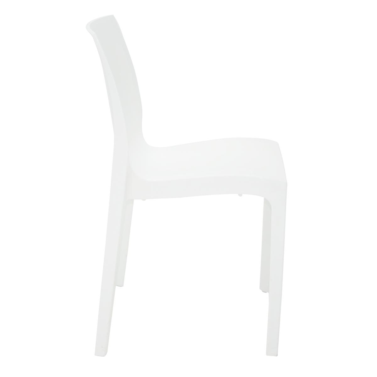 Cadeira Tramontina Alice Branco 92037/010 Conjunto C/4  - Casa Mattos