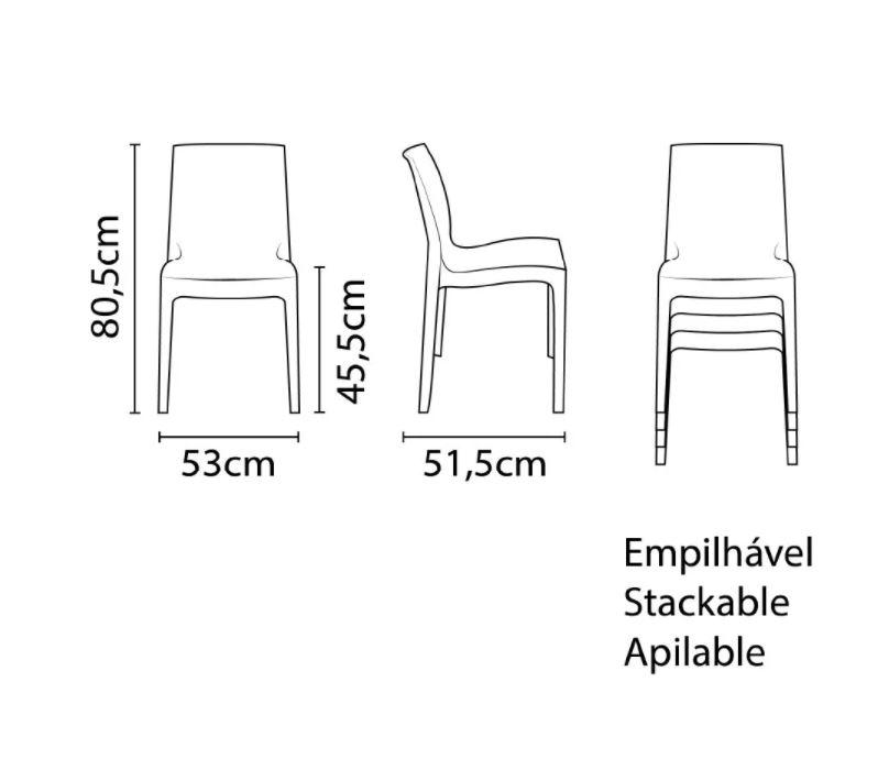 Cadeira Tramontina Alice Preto 92037/009 1 Peça  - Casa Mattos