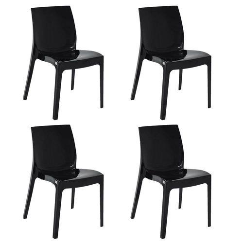 Cadeira Tramontina Alice Preto 92037/009 Conjunto C/4