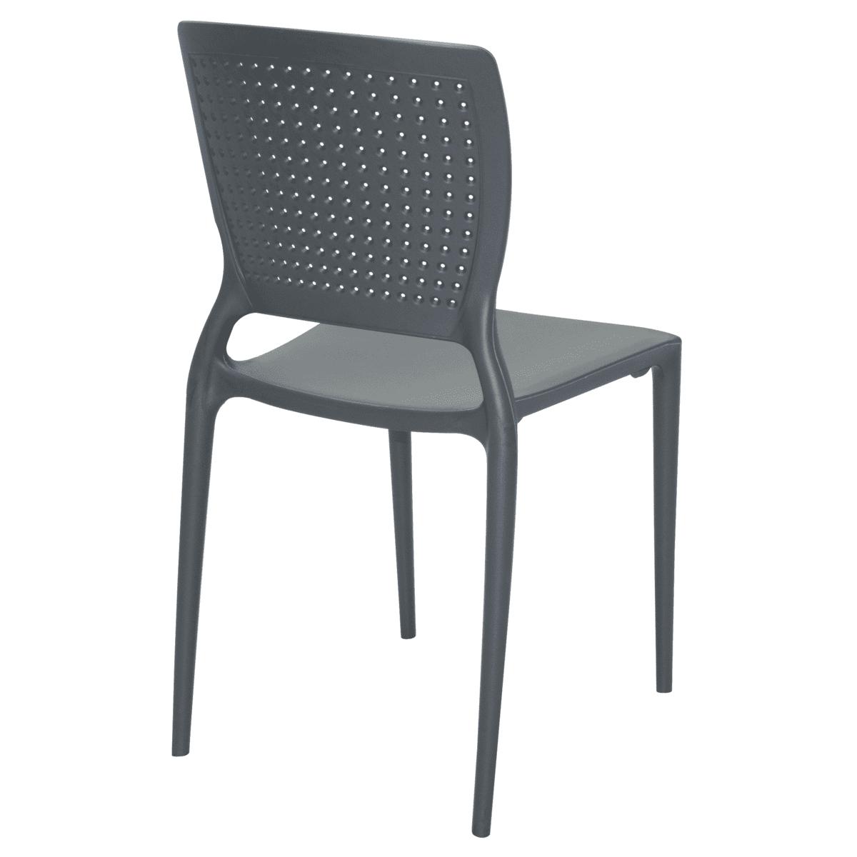 Cadeira Tramontina Safira Grafite 92048/007 Conjunto 4 peças  - Casa Mattos