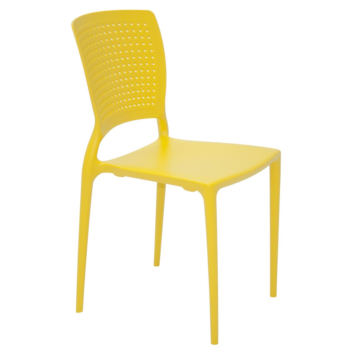 Cadeira Tramontina Safira Summa Amarelo 92048/000 1 Peça
