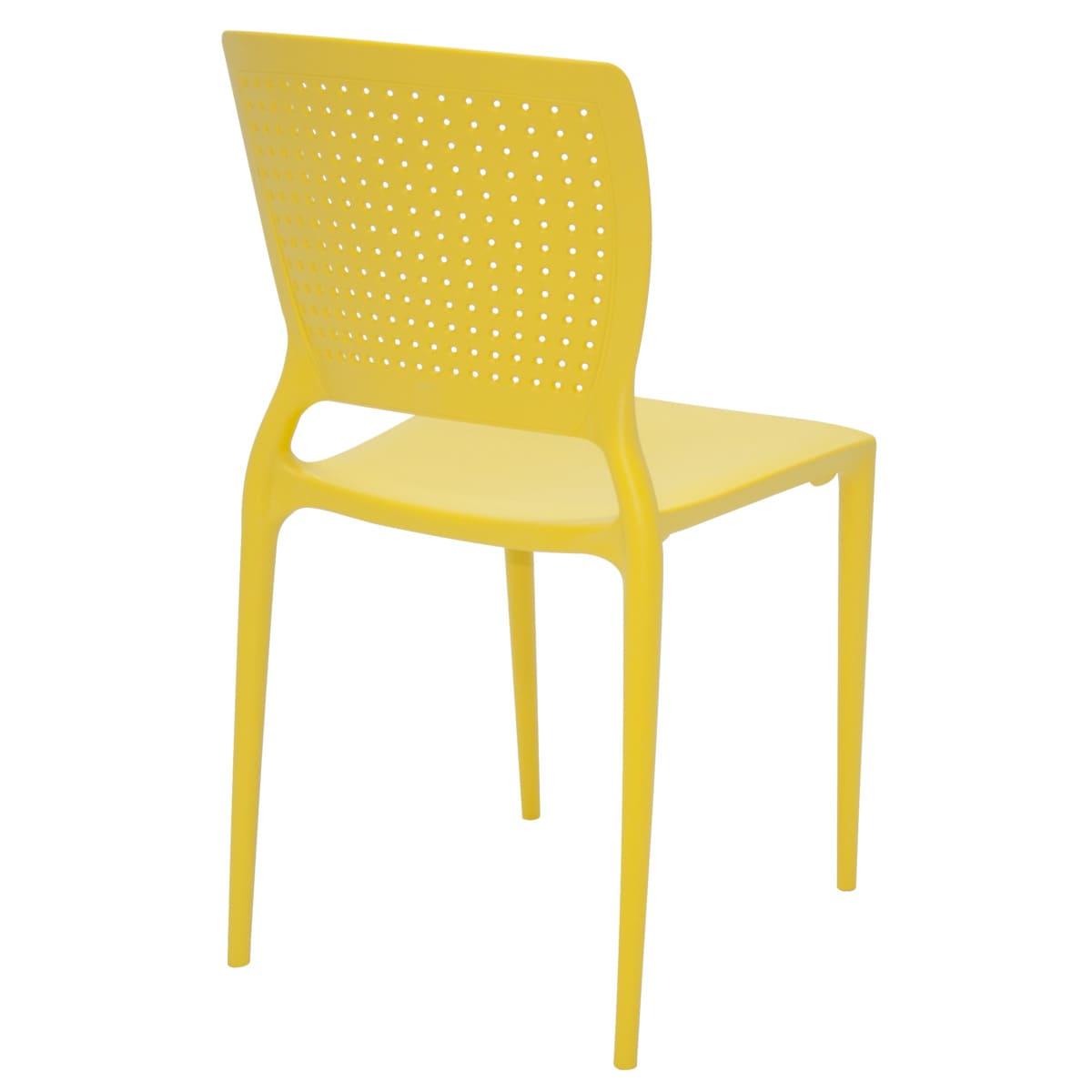 Cadeira Tramontina Safira Summa Amarelo 92048/000 1 Peça  - Casa Mattos