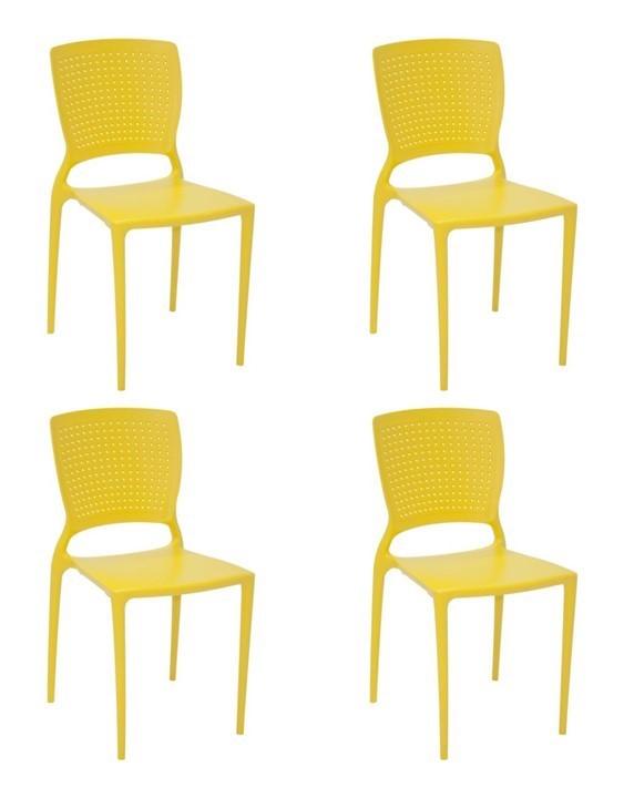 Cadeira Tramontina Safira Summa Amarelo 92048/000 Conjunto C/4