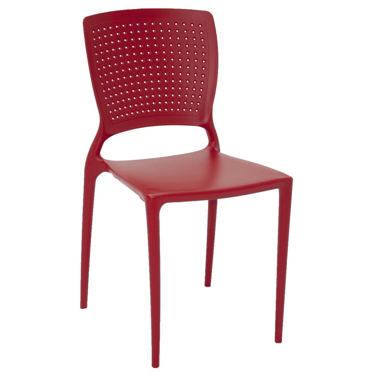 Cadeira Tramontina Safira Vermelho 92048/040 1 Peça  - Casa Mattos