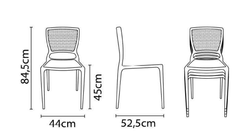 Cadeira Tramontina Safira Vermelho 92048/040 Conjunto 4 unidades  - Casa Mattos