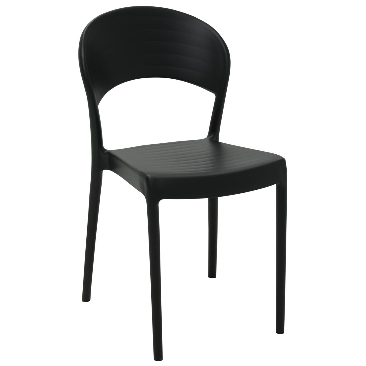 Cadeira Tramontina Sissi Encosto Fechado ECO Preto 92046/409 1 Peça  - Casa Mattos
