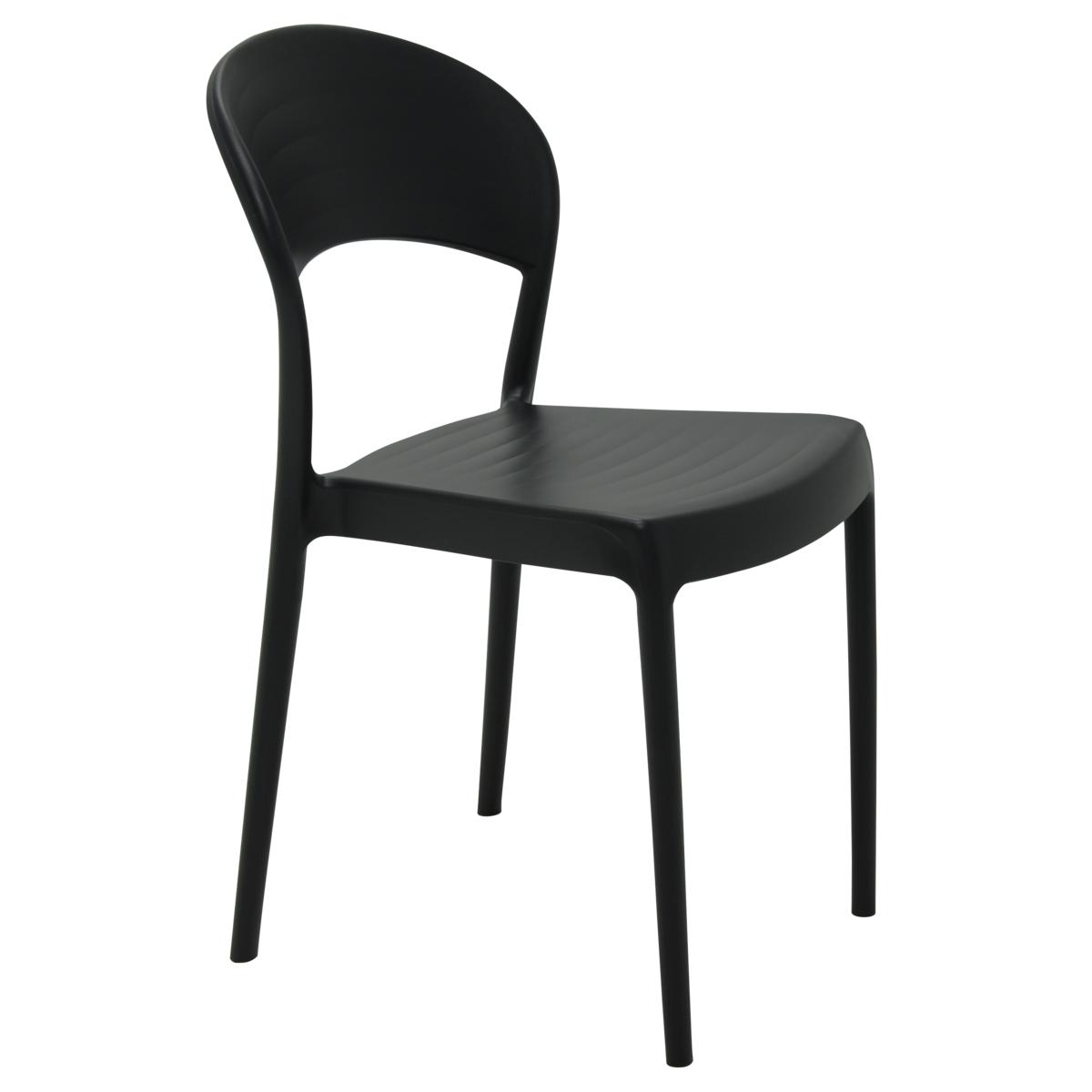 Cadeira Tramontina Sissi Encosto Fechado Preto 92046/409 Conjunto C/4