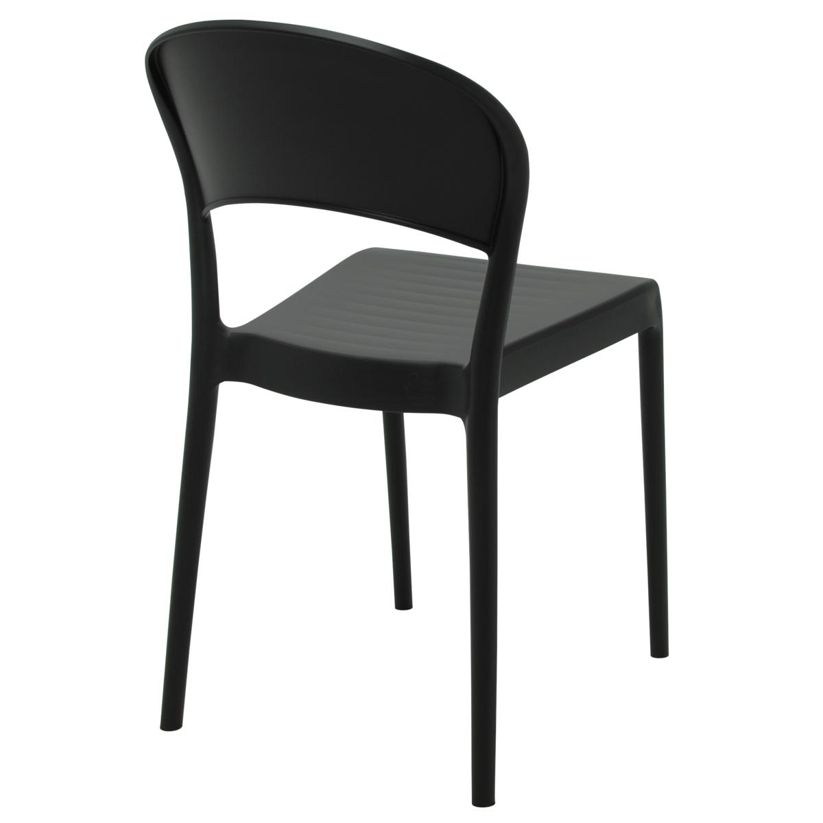Cadeira Tramontina Sissi Encosto Fechado Preto 92046/409 Conjunto C/4  - Casa Mattos