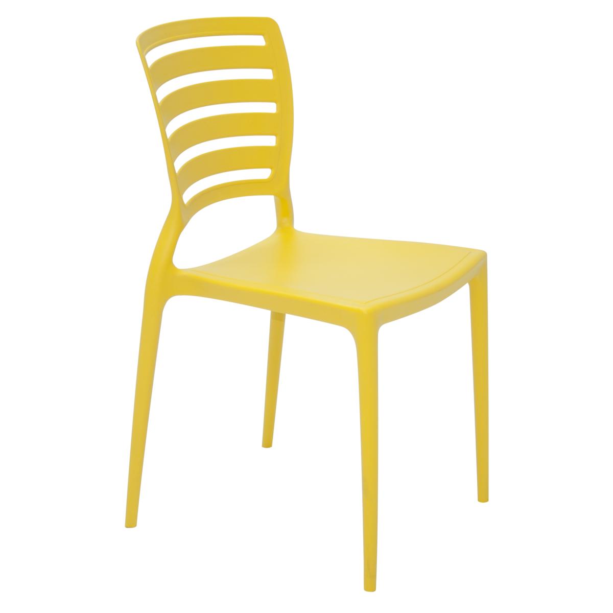 Cadeira Sofia Encosto Vazado Amarela