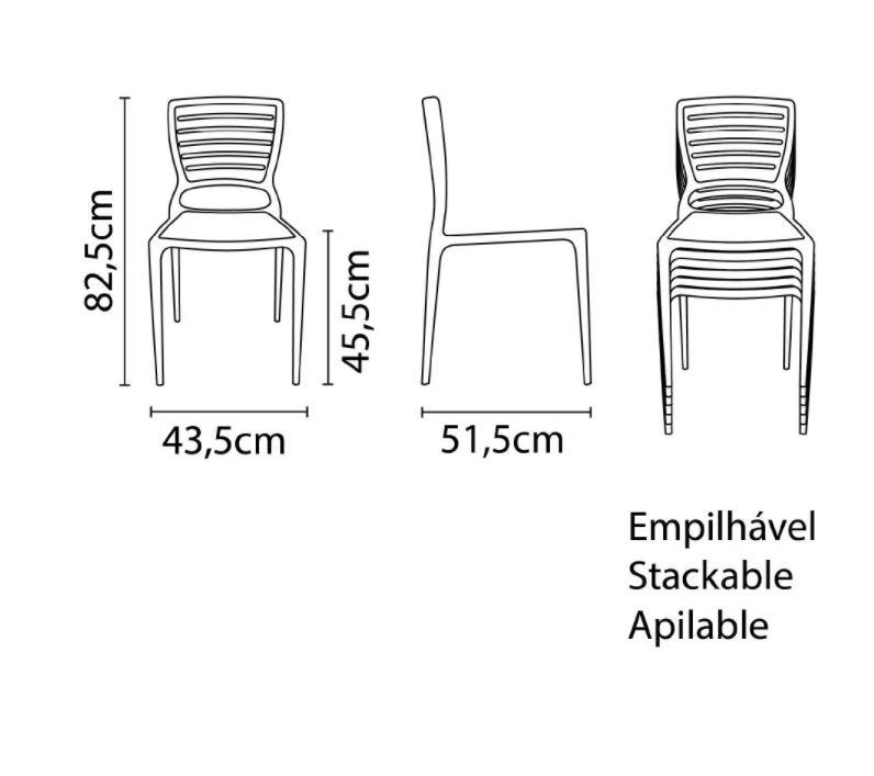 Cadeira Tramontina Sofia Encosto Vazado Amarela 92237/000 1 Peça  - Casa Mattos