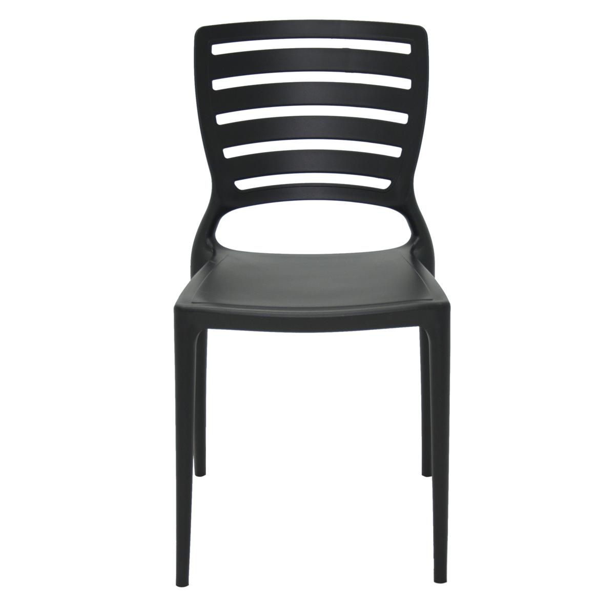 Cadeira Tramontina Sofia Encosto Vazado Preto 92237/009 1 Peça  - Casa Mattos