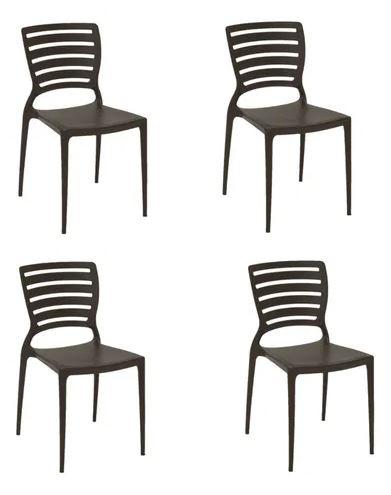 Cadeira Tramontina Sofia Preto 92237/009 Conjunto C/4