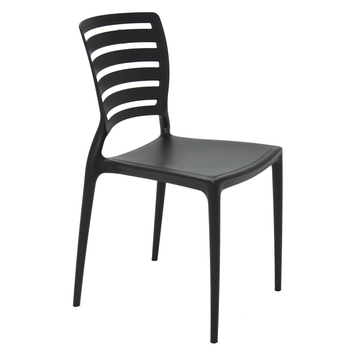 Cadeira Tramontina Sofia Preto 92237/009 Conjunto 4 peças  - Casa Mattos