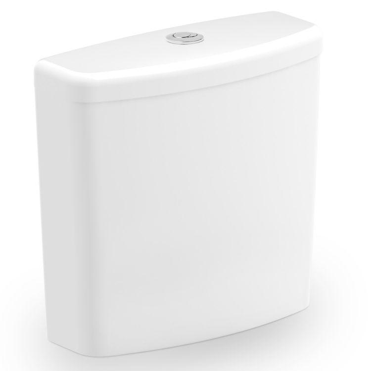 Caixa Acoplada Ecoflush Incepa Thema 3/6L Branco  - Casa Mattos