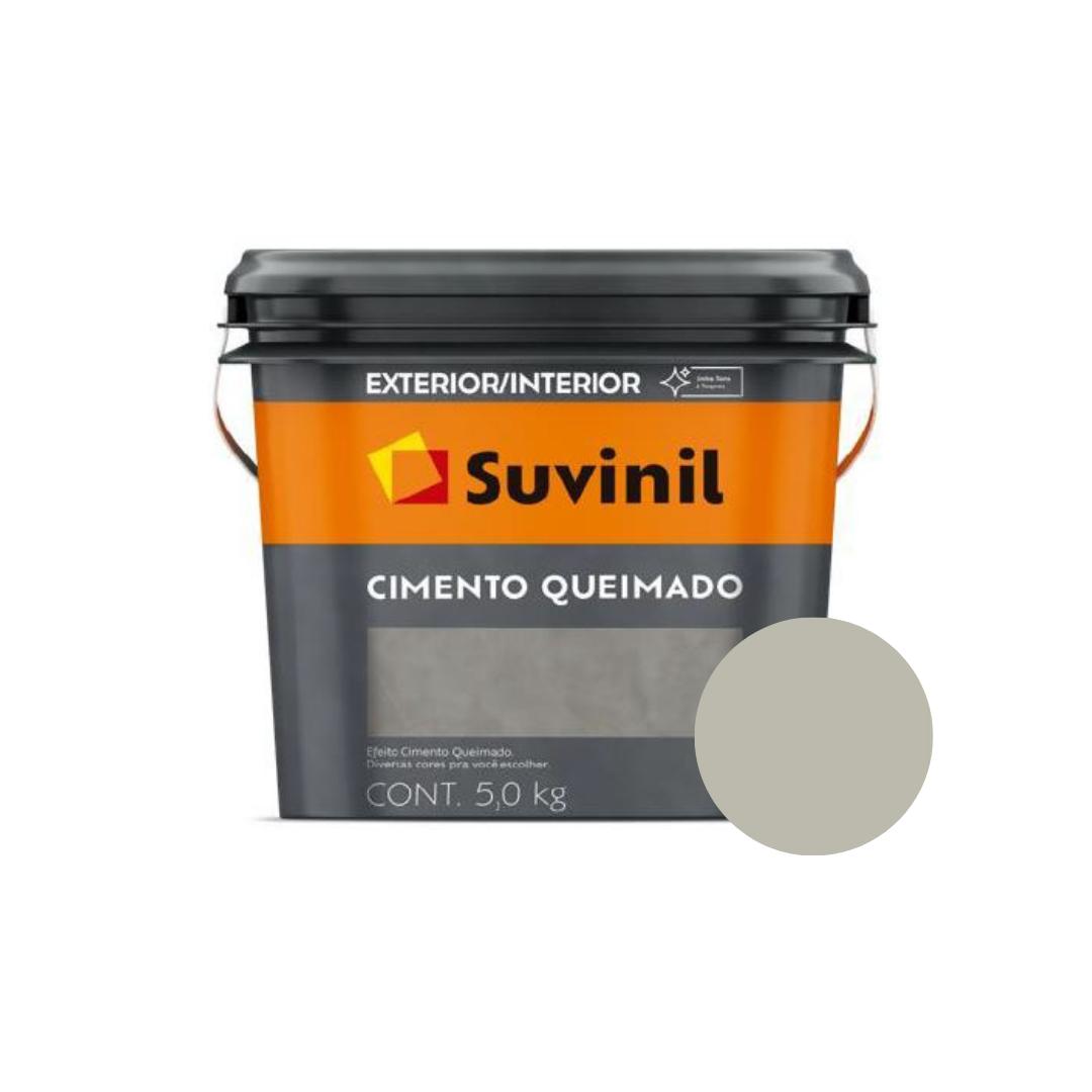 Cimento Queimado Suvinil Balde 5Kg Cor Dia de Chuva  - Casa Mattos