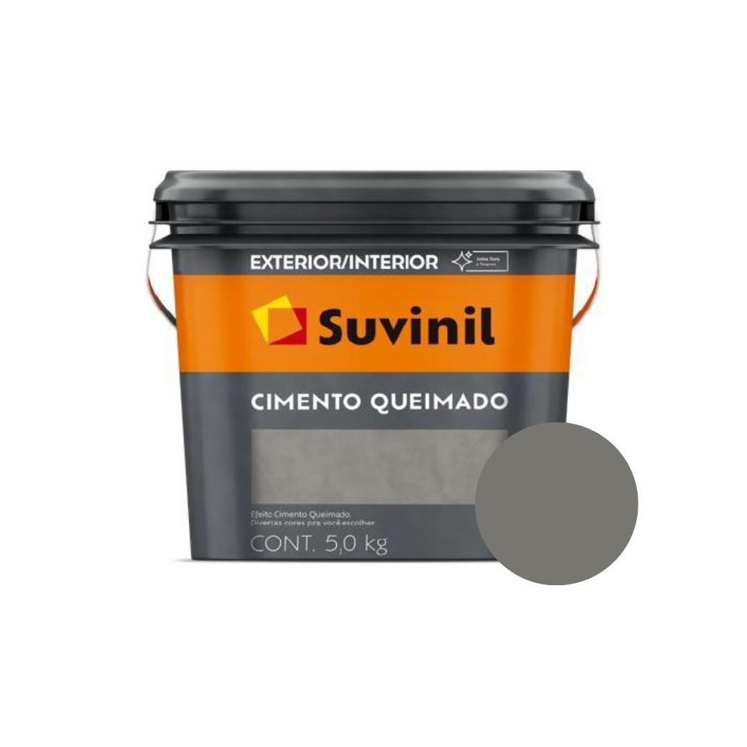 Cimento Queimado Suvinil Balde 5Kg Cor Túnel de Concreto