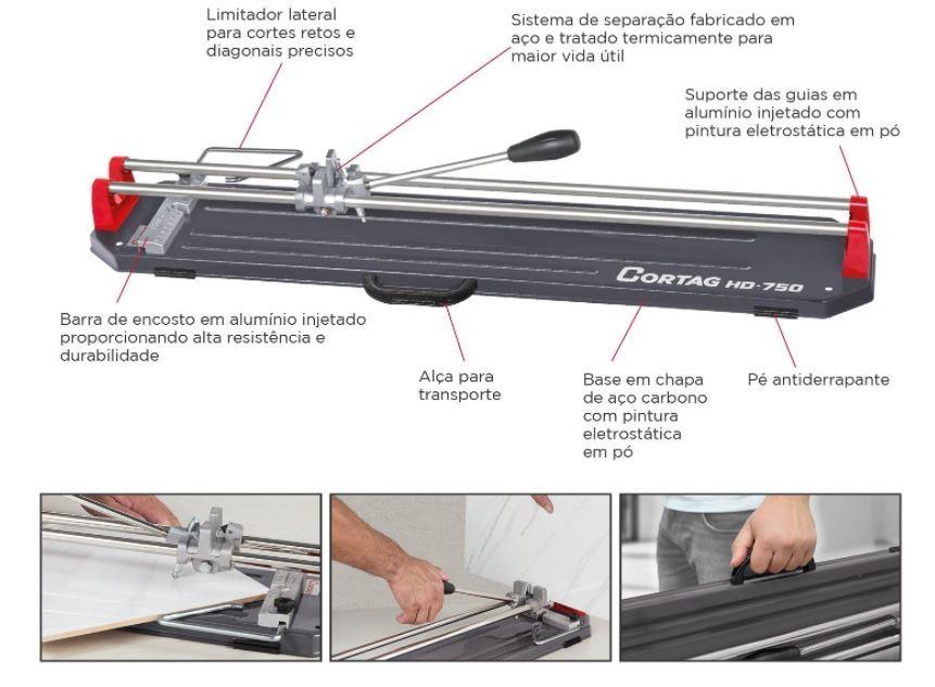 Cortador para Piso Cortag Profissional HD 900  - Casa Mattos