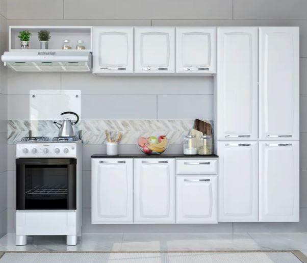 Cozinha Compacta Itatiaia Amanda 4 Peças Branca  - Casa Mattos