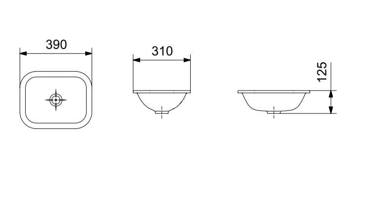 Cuba Celite Sobrepor/Embutir Retangular para Banheiro 39x31cm Branca  - Casa Mattos