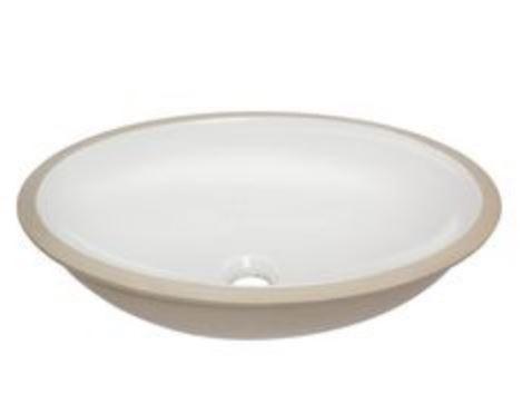 Cuba De Embutir Celite Oval pequena 39 cm X 30 cm Branca