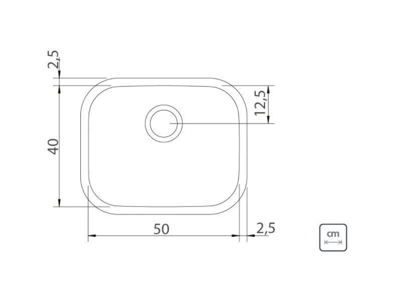 Cuba de Embutir/Sobrepor Tramontina Aria Maxi 94025/402 50x40cm em Aço Polido  - Casa Mattos