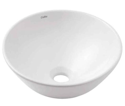 Cuba Para Banheiro de Apoio Redonda 350MM Basic R1 - Branca