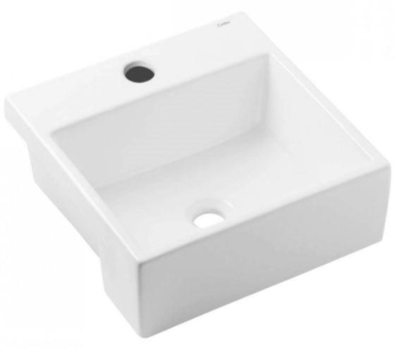 Cuba Semi-Encaixe Com Mesa Basic Q2 41Cm x 41Cm - Branco - Celite