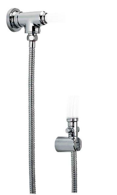 Desviador Universal Para Chuveiro e Ducha Cromado Com Flexível - Cromado