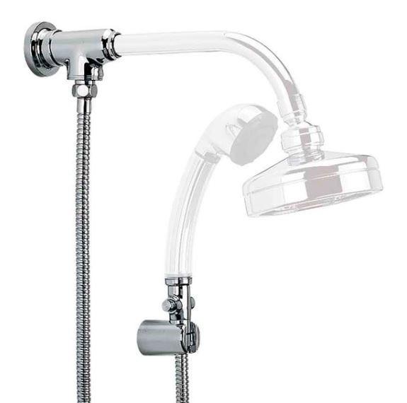 Desviador Universal Para Chuveiro e Ducha Cromado Com Flexível - Cromado  - Casa Mattos
