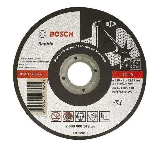 Disco de Corte Fino Inox 115x22x1mm