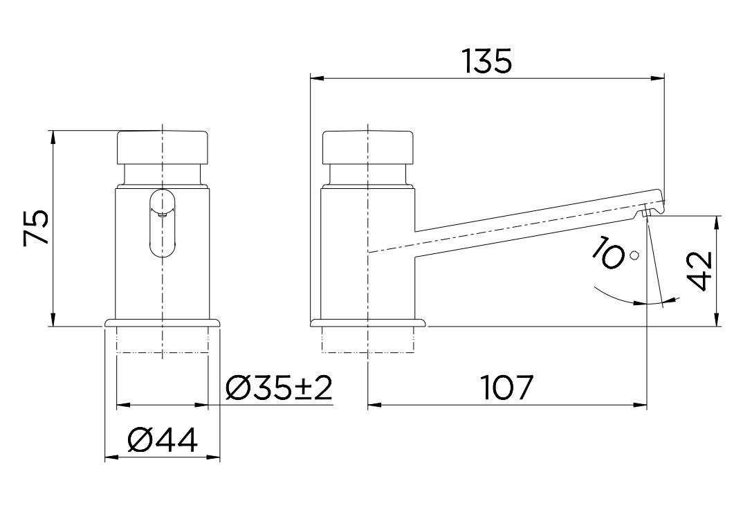 Dispensador para Sabonete/Detergente Docol PressMatic 17200006 Cromado  - Casa Mattos